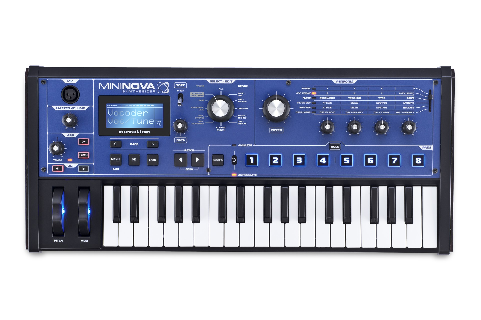 Novation mininova compact performance synthesizer introduced for Classic house synths