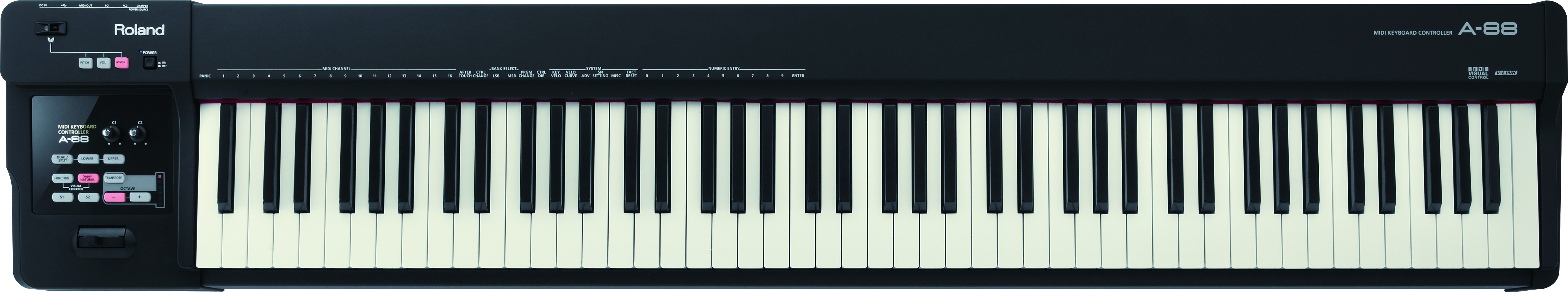 roland a 88 and a 49 midi keyboard controllers announced. Black Bedroom Furniture Sets. Home Design Ideas