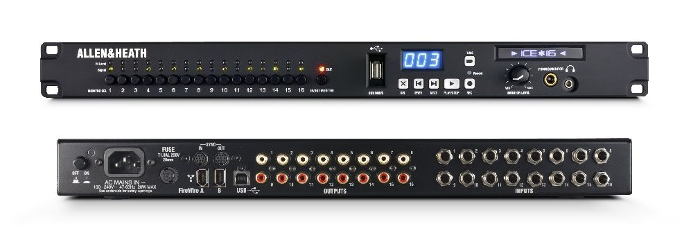 allen heath ice 16 audio interface introduced at plasa. Black Bedroom Furniture Sets. Home Design Ideas