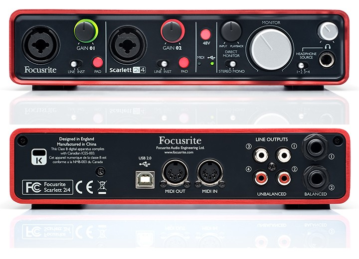 focusrite scarlett 2i4 usb audio interface announced. Black Bedroom Furniture Sets. Home Design Ideas