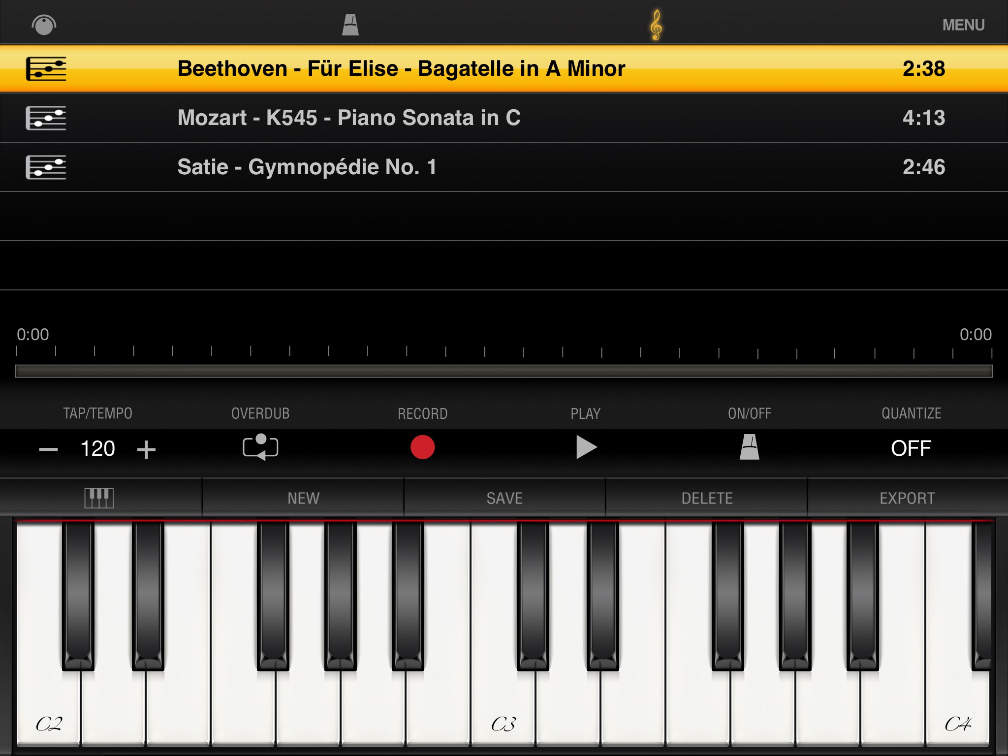 ik multimedia igrand piano for ipad app with 17 professional sounding pianos. Black Bedroom Furniture Sets. Home Design Ideas