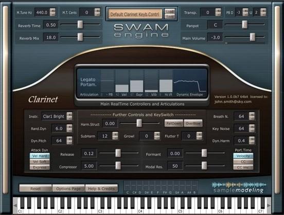 Sample Modeling Soprano & Bass Clarinets SWAM engine-powered
