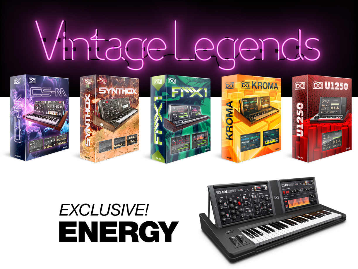 Uvi vintage legends iconic synth collection sound for Classic house synths