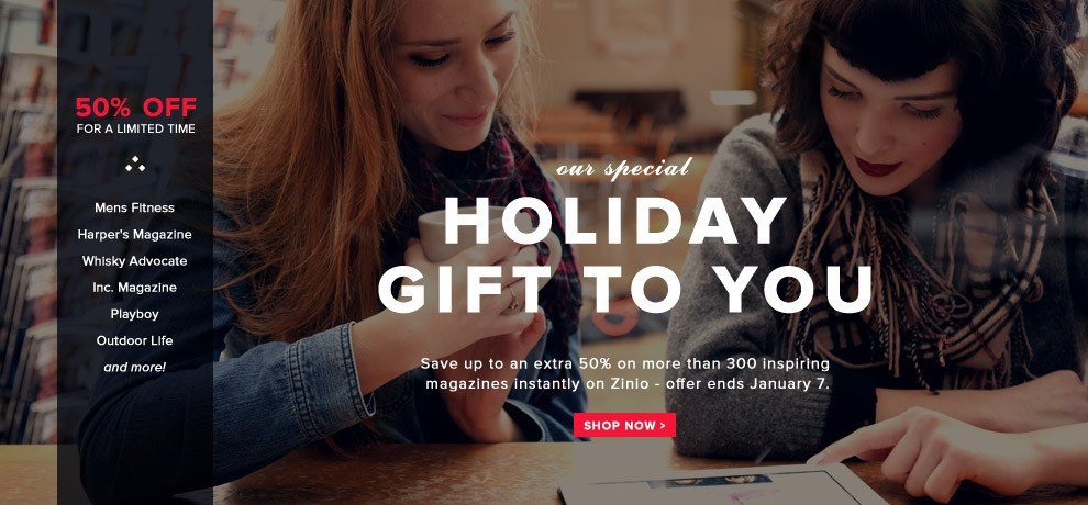 How to use a Zinio Digital Magazines coupon Being flexible in your choices of magazine subscriptions is the best way to save at Zinio Digital Magazines. You can search goodfilezbv.cf for coupon codes for additional savings off Zinio Digital Magazines' already discounted prices.