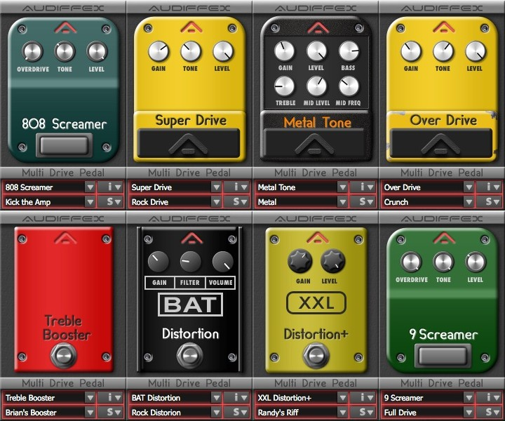 audiffex multi drive pedal stombox effect plugins for pc and mac. Black Bedroom Furniture Sets. Home Design Ideas