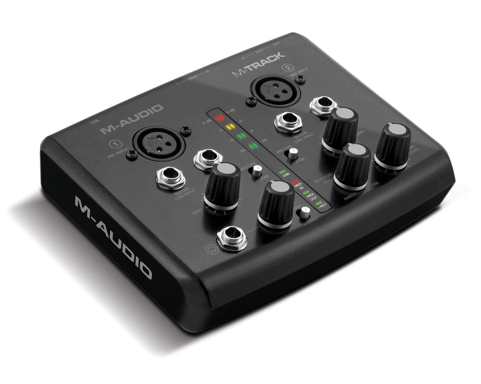 M Audio M Track Series Audio Midi Interfaces Announced