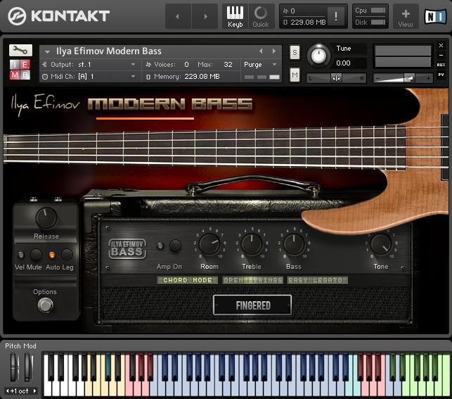Ilya Efimov Modern Bass 5-string bass guitar sample library for ...