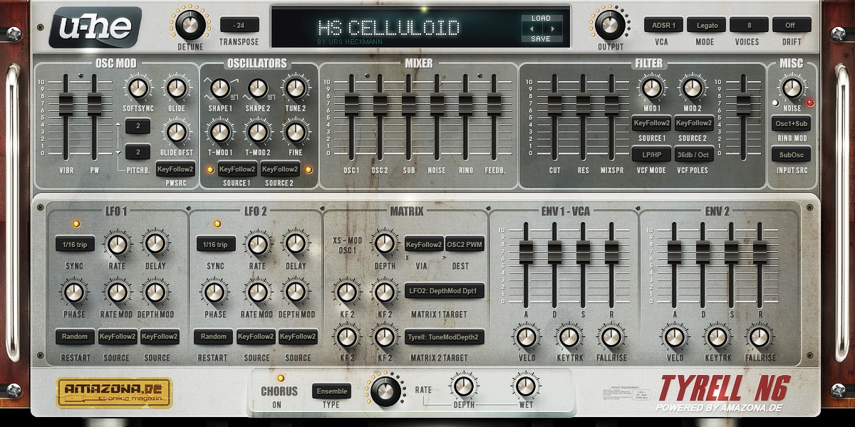 Free presets and sound banks for u-he Tyrell N6