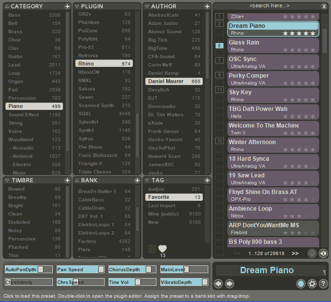 Big Tick Zen free presets manager updated to v1 7