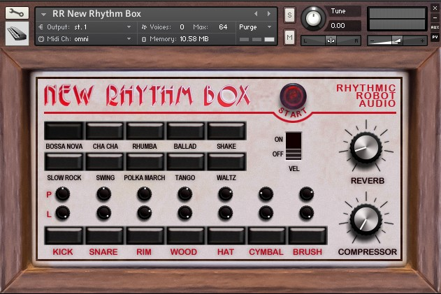 rhythmic robot new rhythm box drum machine library for kontakt. Black Bedroom Furniture Sets. Home Design Ideas