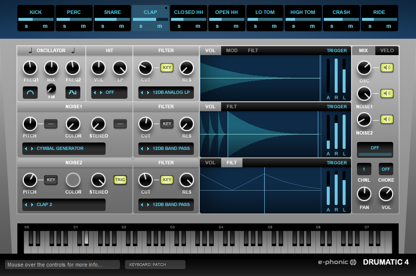 E-Phonic releases Drumatic 4 synth plugin v1 0