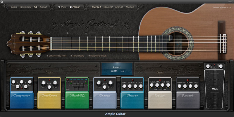 Ample Guitar L virtual acoustic guitar at Ample Sound