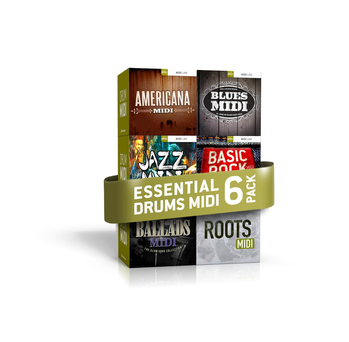 toontrack essential drums midi 6 pack bundle of drums midi libraries. Black Bedroom Furniture Sets. Home Design Ideas