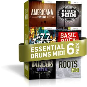 Toontrack Essentials Drums MIDI 6 Pack