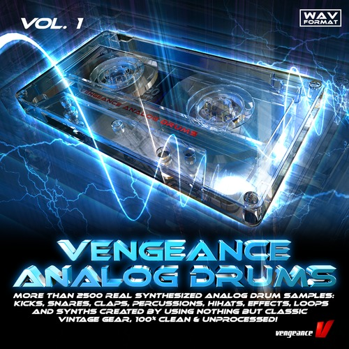 Vengeance Analog Drums Vol 1 sample pack at reFX