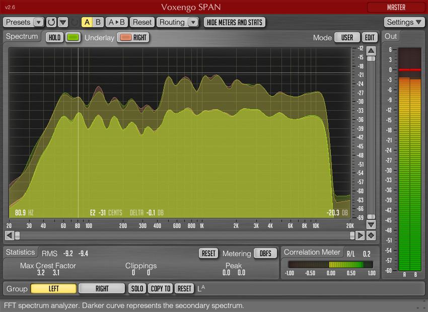 Voxengo SPAN free spectrum analyzer plugin updated to v2 6