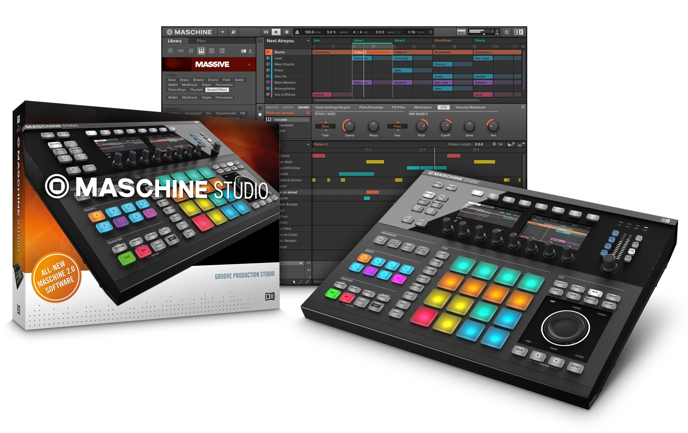 native instruments maschine studio and maschine 2 0 announced. Black Bedroom Furniture Sets. Home Design Ideas