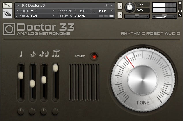 rhythmic robot doctor 33 virtual metronome instrument for ni kontakt. Black Bedroom Furniture Sets. Home Design Ideas
