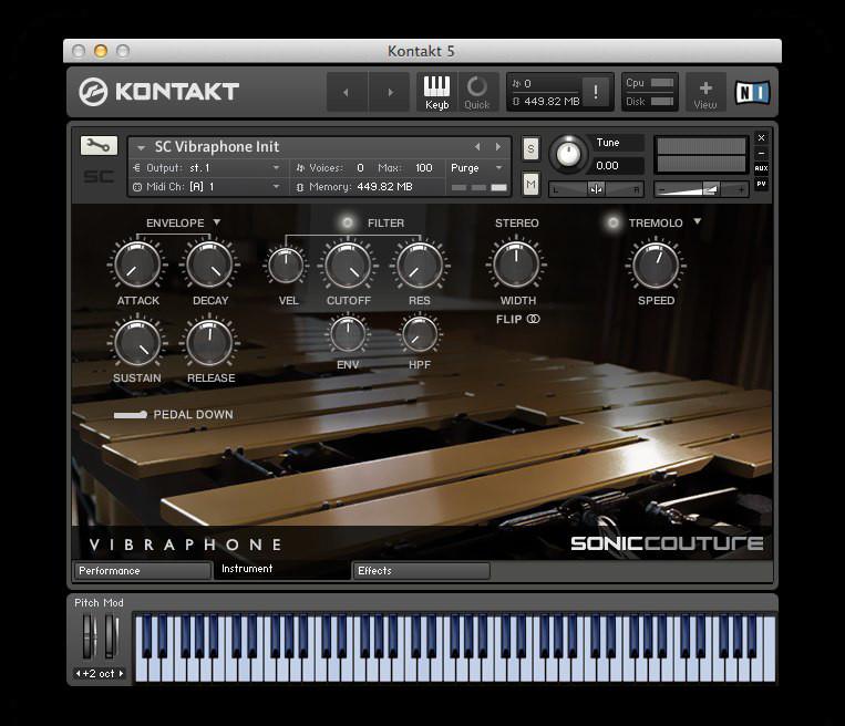 Soniccouture Vibraphone virtual instrument for NI Kontakt
