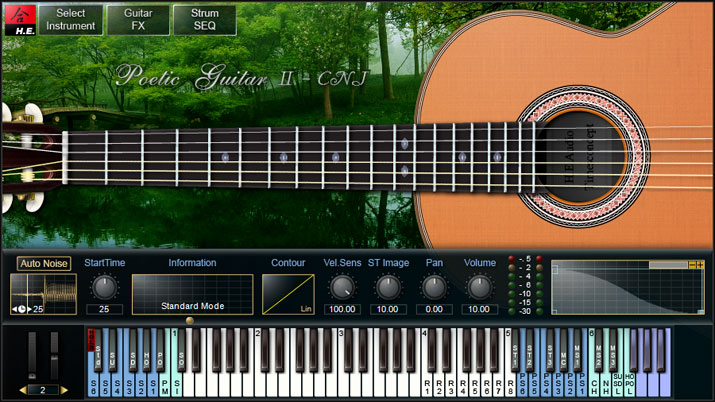 H E Audio Poetic Guitar 2 instrument plugins for Windows and Mac