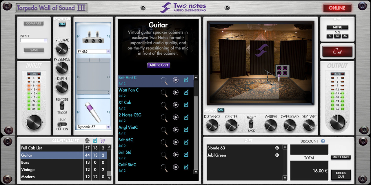 two notes torpedo wall of sound iii speaker cab simulation aax. Black Bedroom Furniture Sets. Home Design Ideas