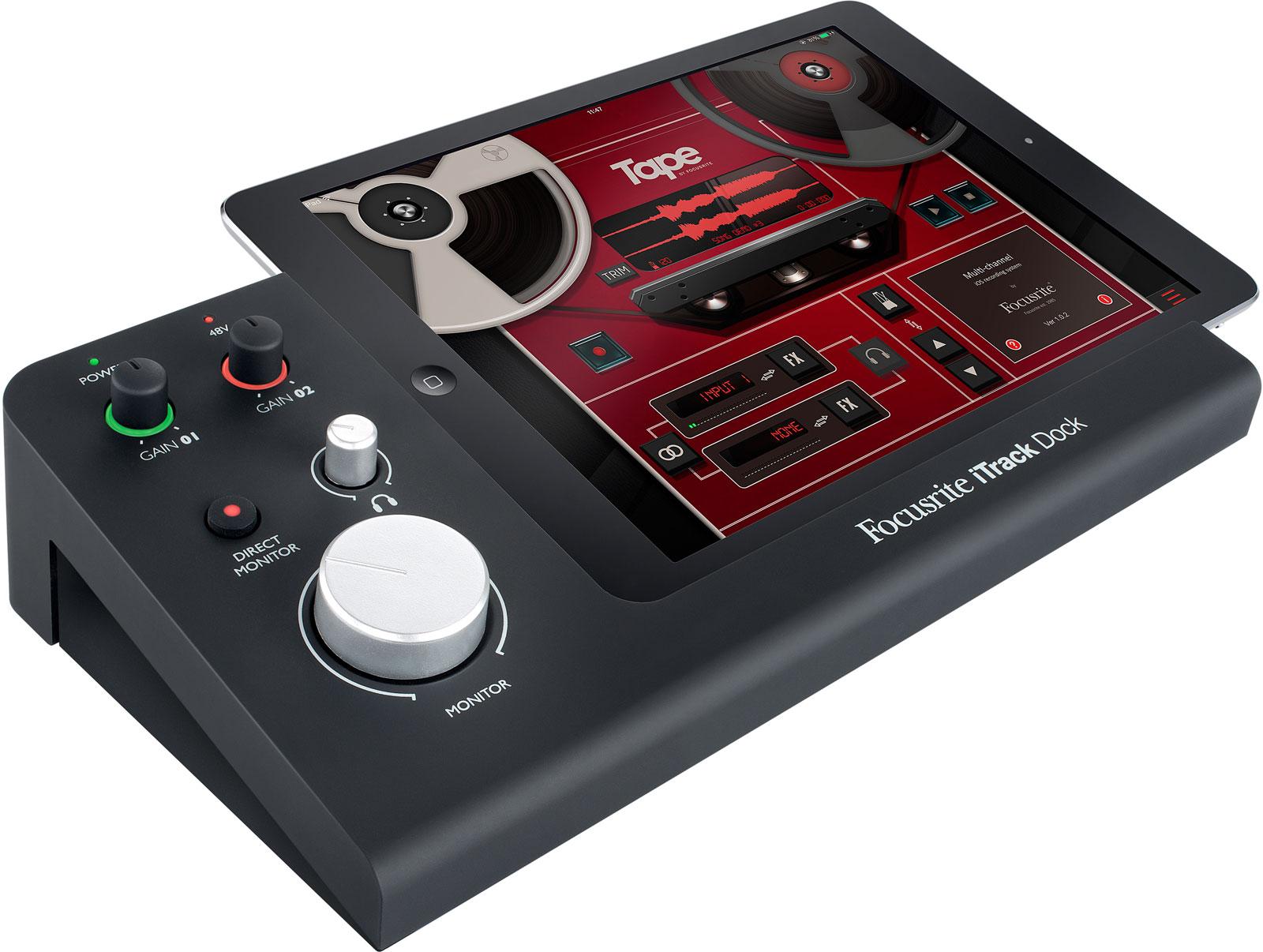 focusrite itrack dock for recording music on ipad. Black Bedroom Furniture Sets. Home Design Ideas