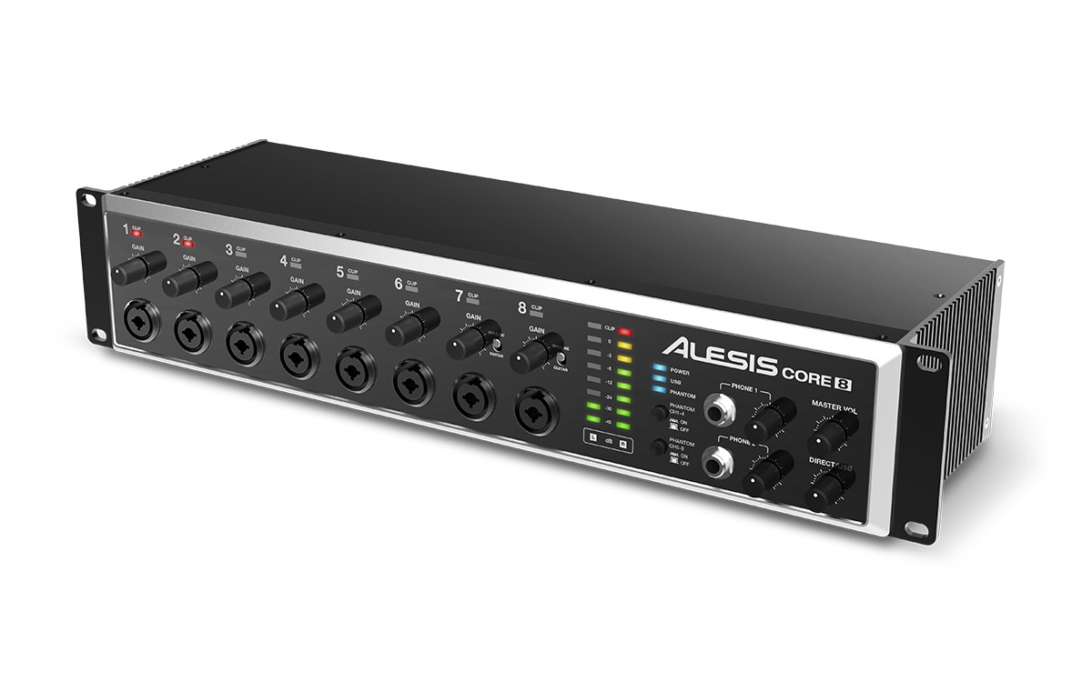alesis core series 24 bit usb audio interfaces announced. Black Bedroom Furniture Sets. Home Design Ideas