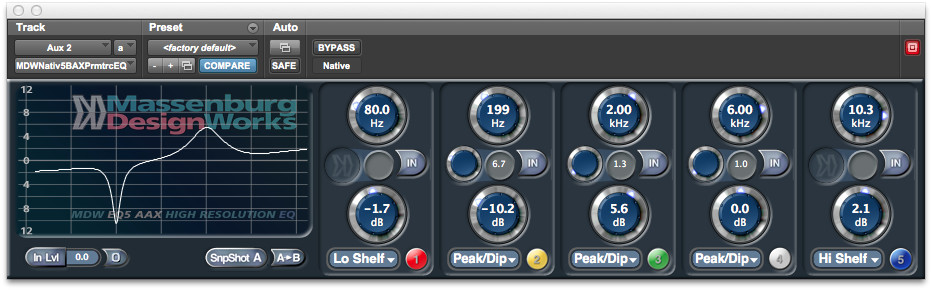 Avid MDW Parametric EQ 5 Plug-In gets AAX support for Pro