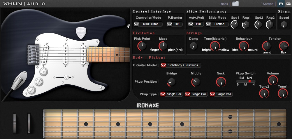 xhun audio ironaxe electric guitar plugin updated to v1 6 1. Black Bedroom Furniture Sets. Home Design Ideas