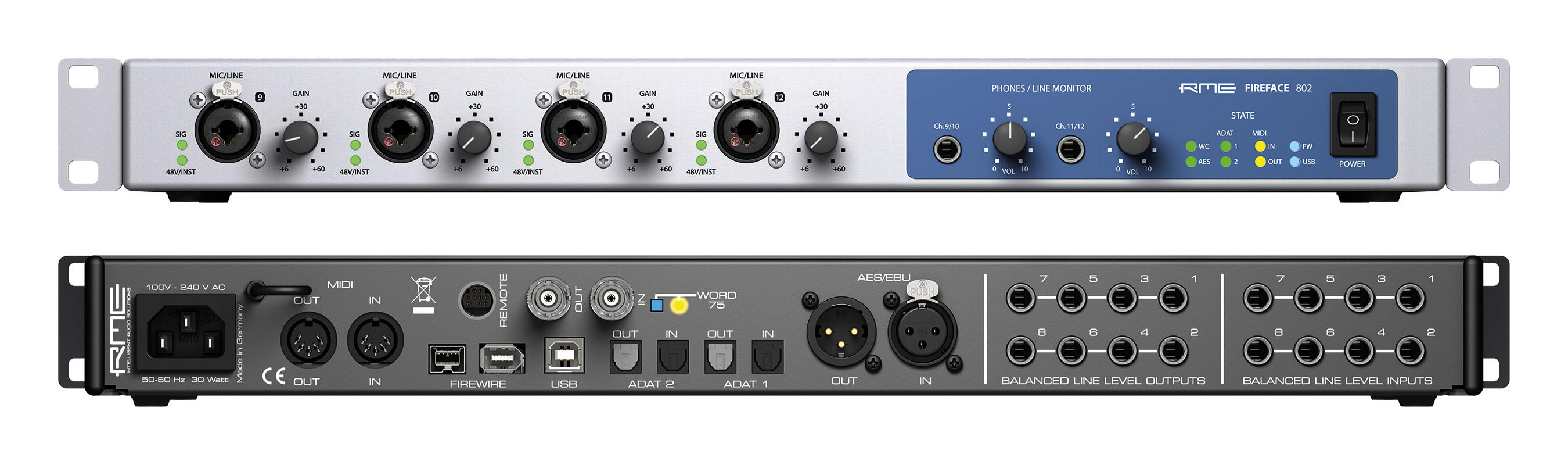 RME Fireface 802 audio interface introduced at Musikmesse