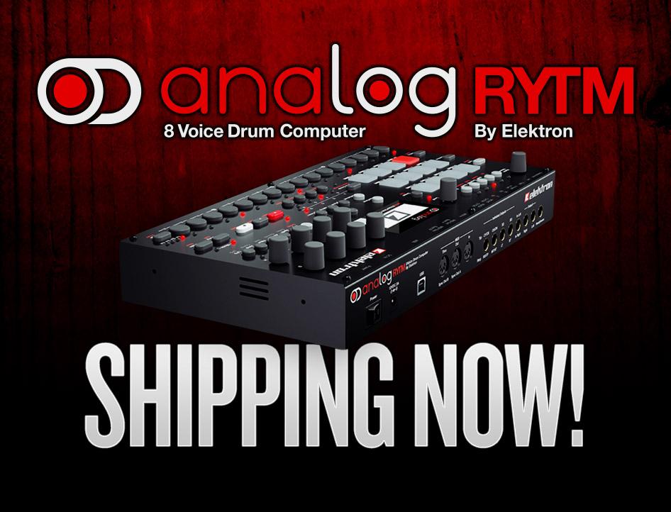 elektron analog rytm now shipping. Black Bedroom Furniture Sets. Home Design Ideas