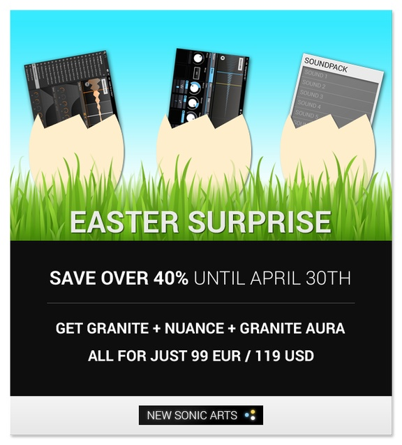 New Sonic Arts Easter Sale