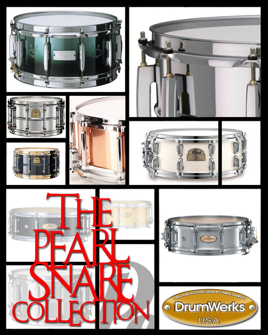 drum werks complete pearl snare samples collection released. Black Bedroom Furniture Sets. Home Design Ideas