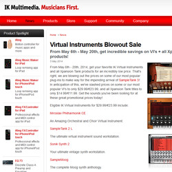 IK Multimedia Virtual Instruments Blowout Sale