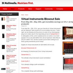 IK Multimedia Virtual Instruments Blowout Sale