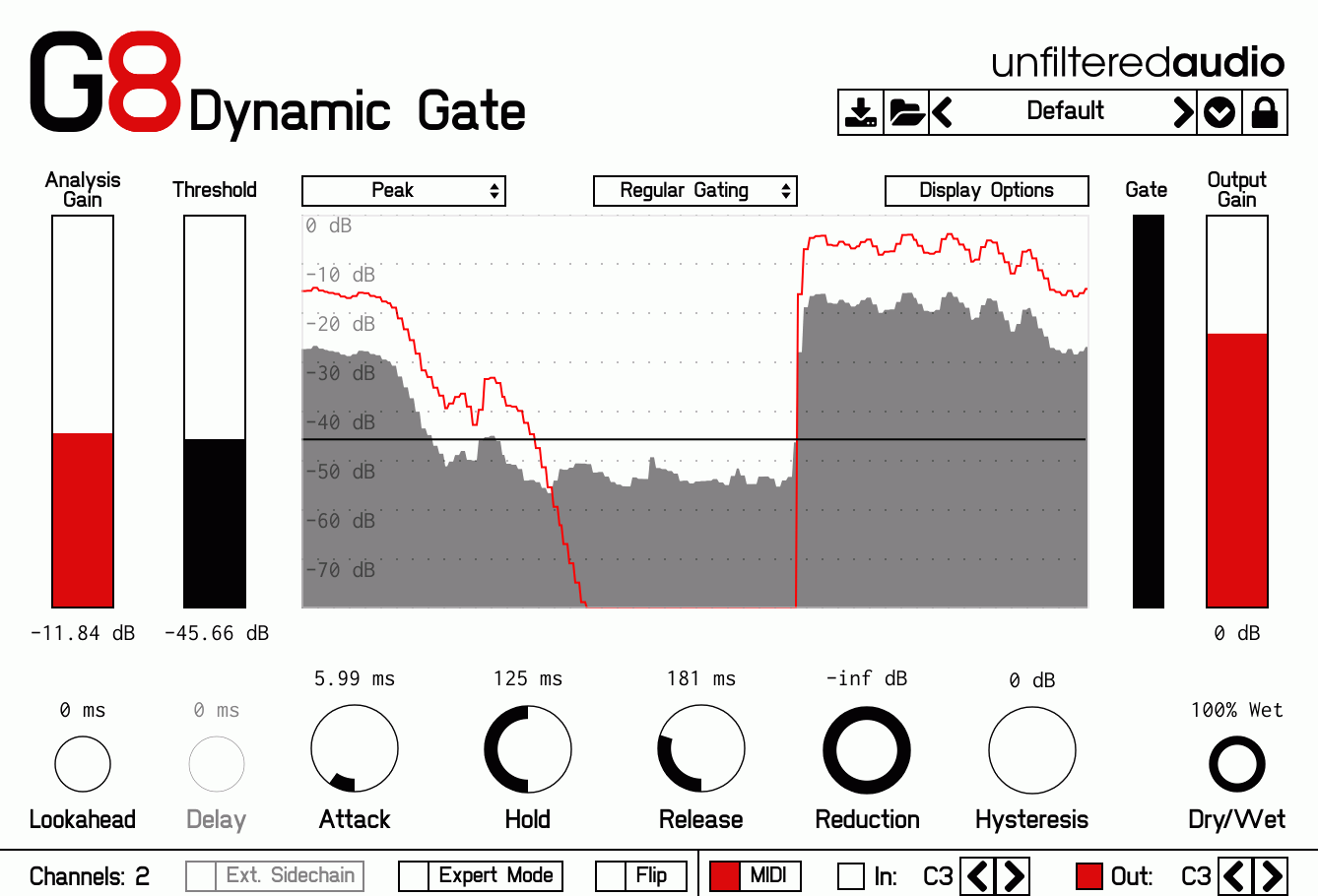 G8 Dynamic Gate Effect Plugin Released By Unfiltered Audio