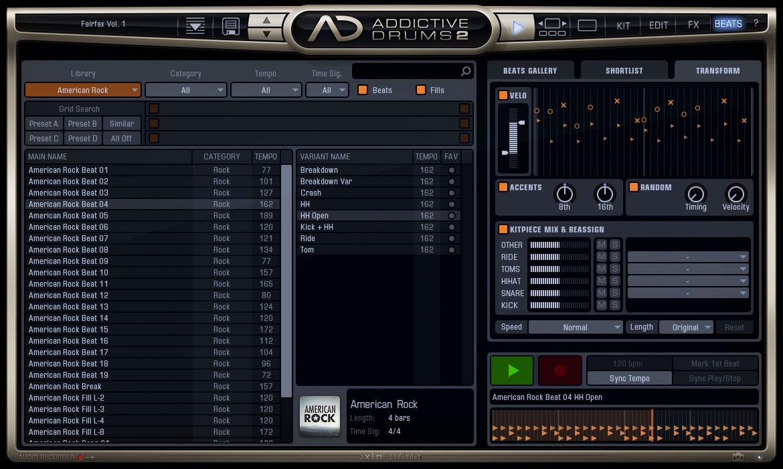 addictive drums 2 virtual drum instrument by xln audio. Black Bedroom Furniture Sets. Home Design Ideas
