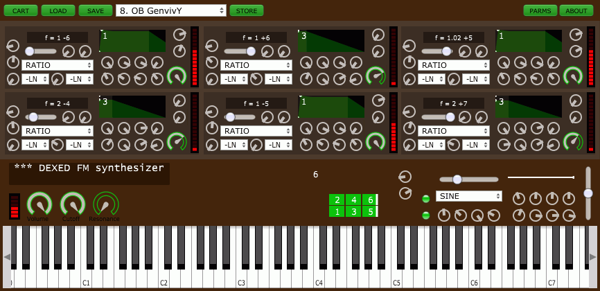 Dexed free synth plugin closely modeled on the Yamaha DX7