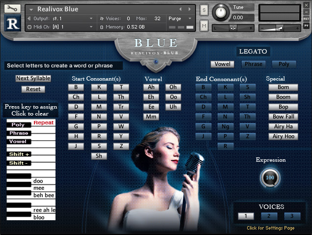 Realivox Blue vocal instrument for Kontakt released