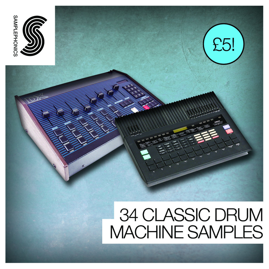 34 classic drum machine samples by samplephonics. Black Bedroom Furniture Sets. Home Design Ideas