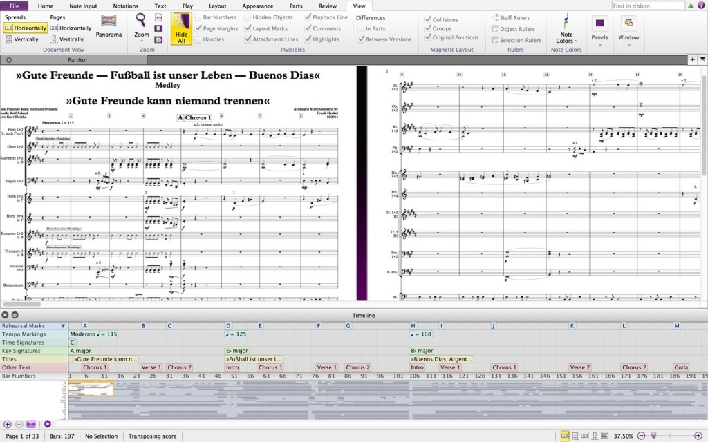 Sibelius notation software updated to v7 5 1