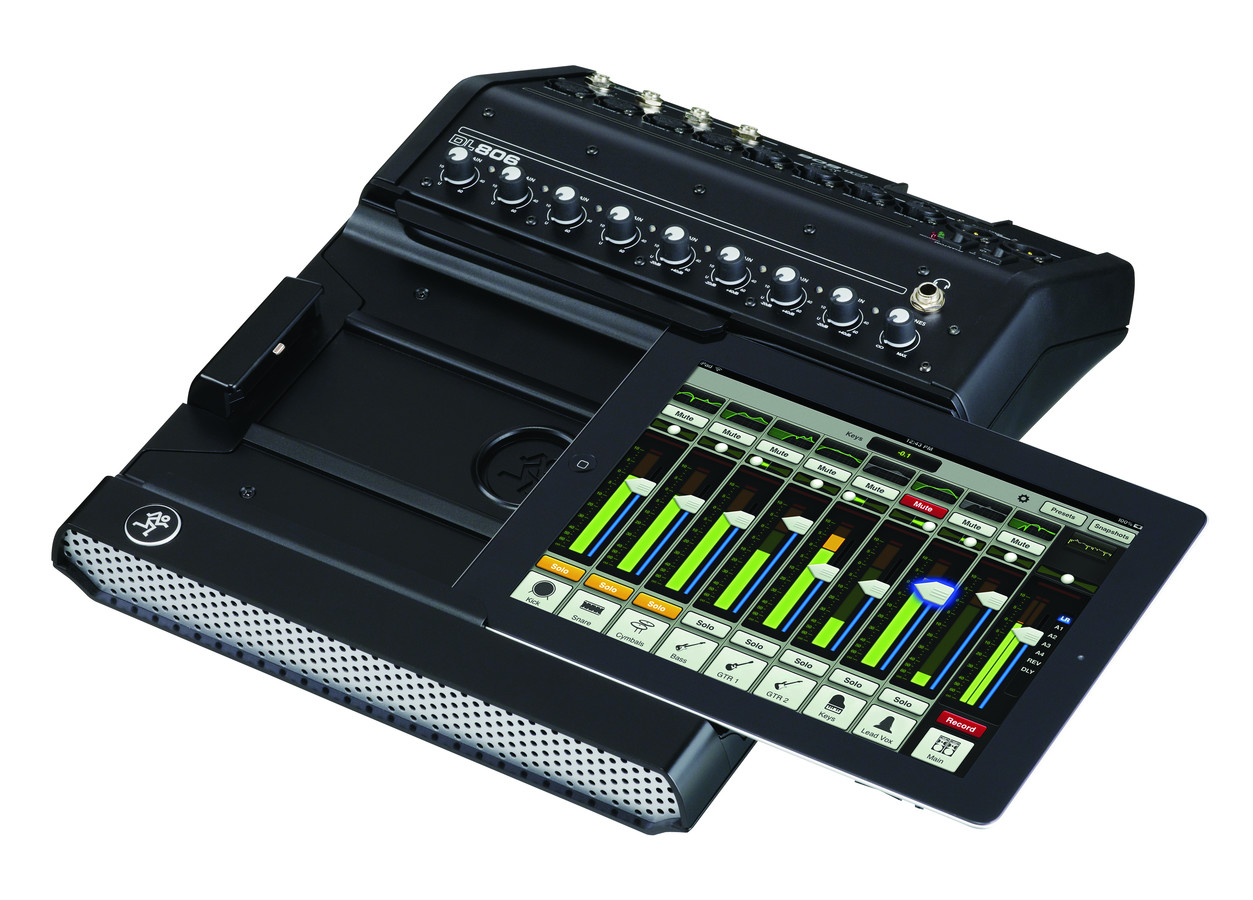 dl806 digital mixer with ipad control by mackie. Black Bedroom Furniture Sets. Home Design Ideas