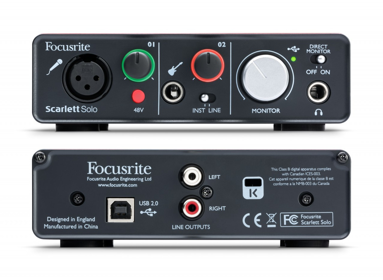 focusrite scarlett solo audio usb interface released. Black Bedroom Furniture Sets. Home Design Ideas
