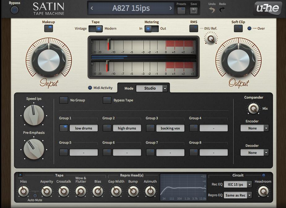 u-he updates Satin tape plugin v1 2 with micro fix