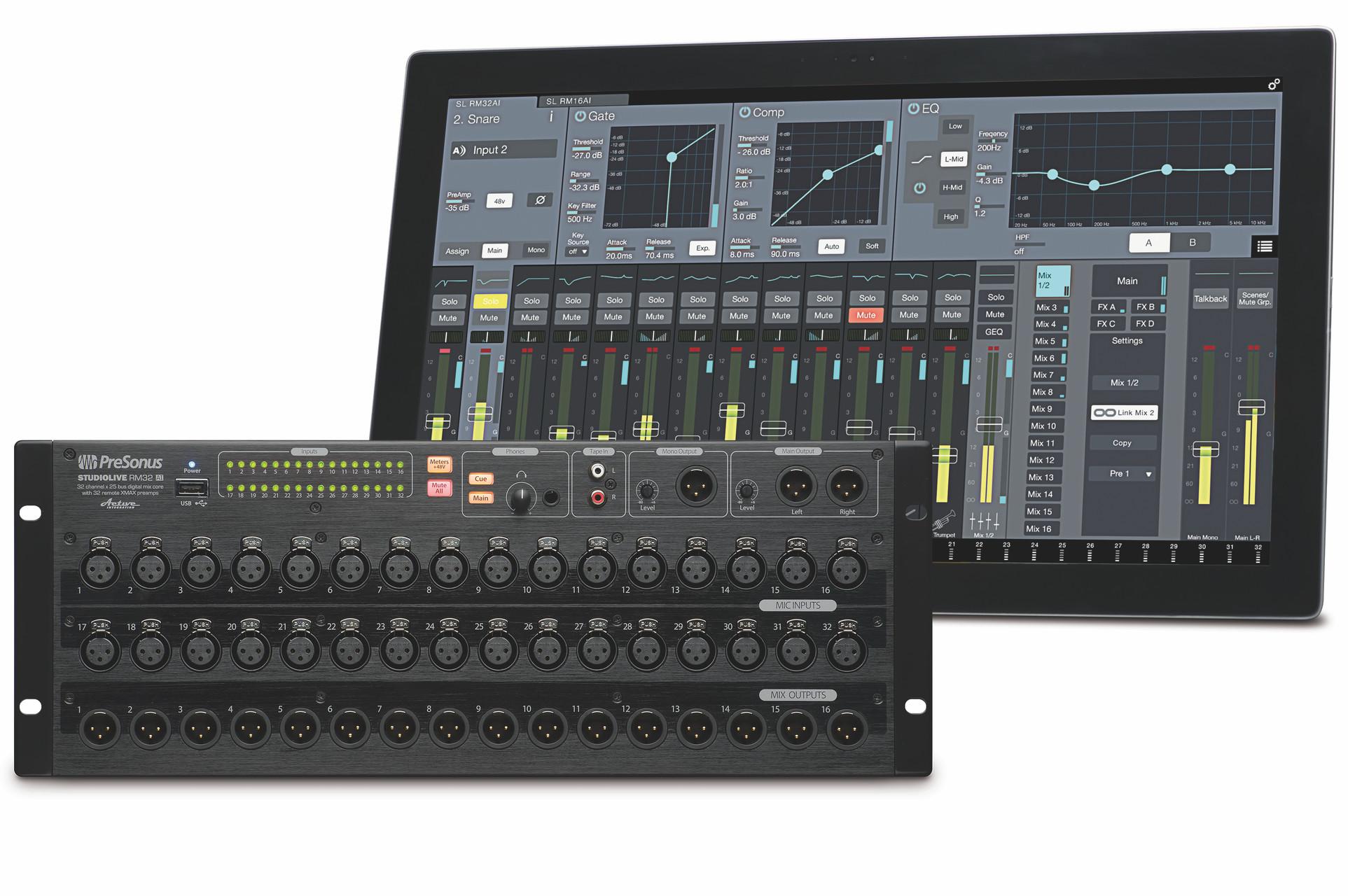 Presonus Launches Studiolive Rm Series Digital Mixers