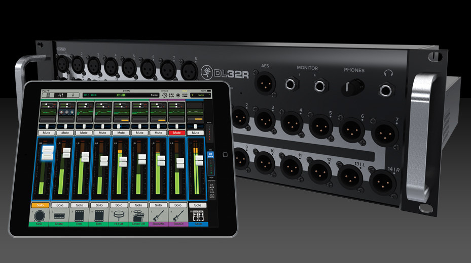 mackie dl32r 32 channel digital mixer with wireless control. Black Bedroom Furniture Sets. Home Design Ideas