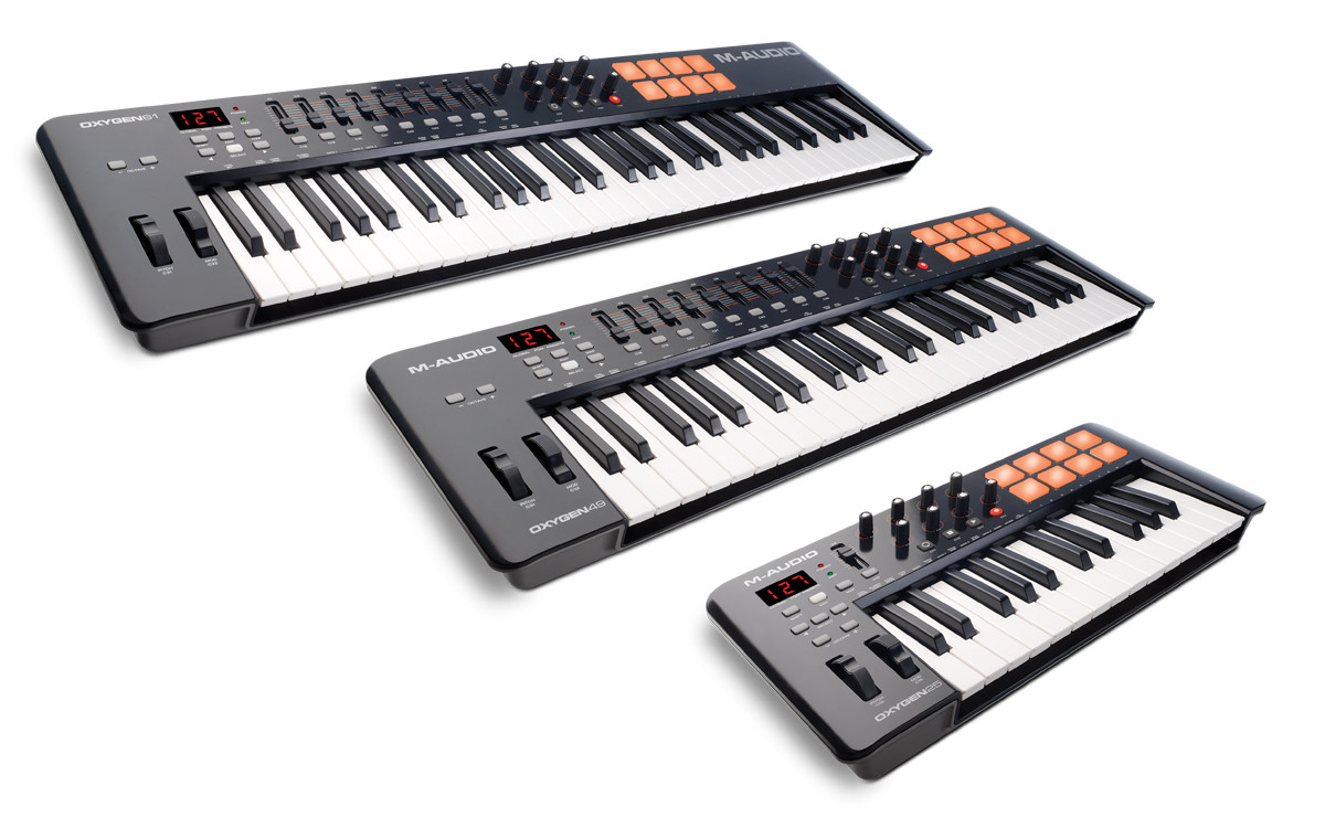 oxygen midi keyboard controllers by m audio updated. Black Bedroom Furniture Sets. Home Design Ideas