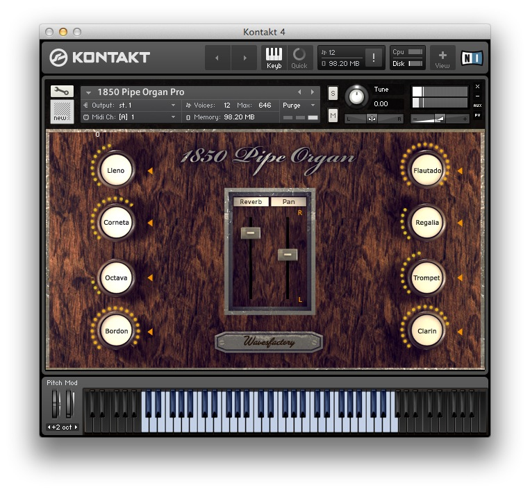 1850 Pipe Organ Pro by Wavesfactory updated