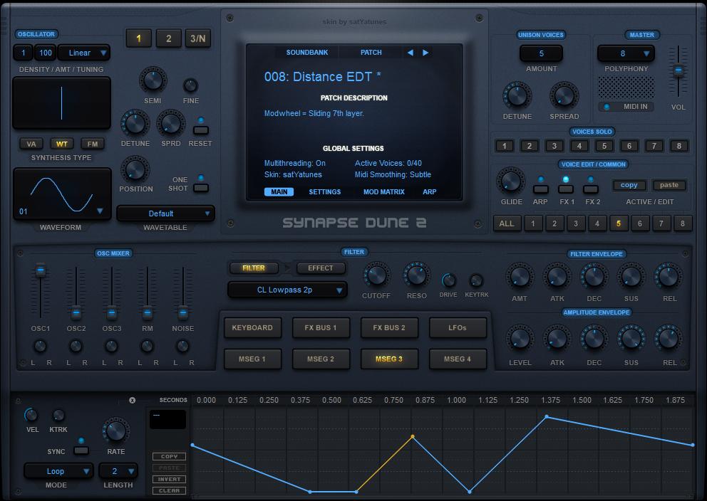 satYatunes free Blue Theme skin for DUNE 2 updated