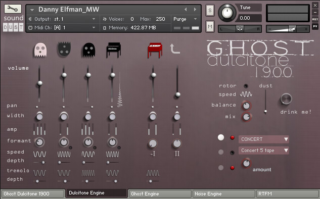 Ghost Dulcitone 1900 for Kontakt released by Sound Dust